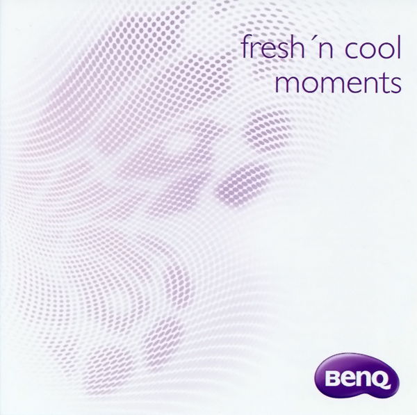 "CD cover of BenQ ""fresh'n cool moments"""
